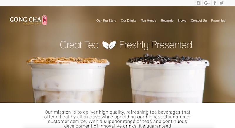貢茶-GongChaCanada 多伦多网站制作 北美网站设计 Hilborn Digital 网站开发