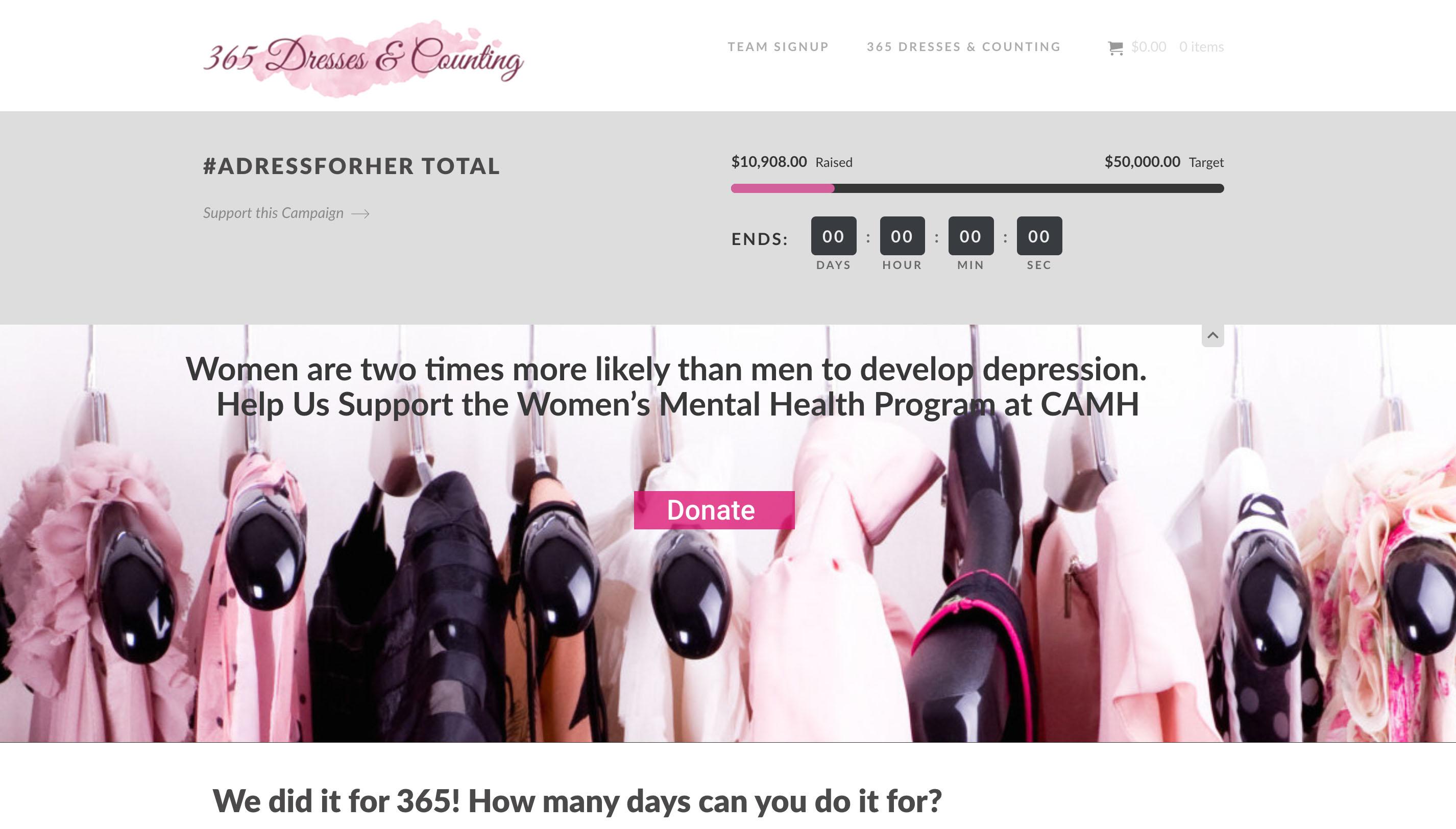 Charity - 365 Dresses - Hilborn Digital Website Deisgn